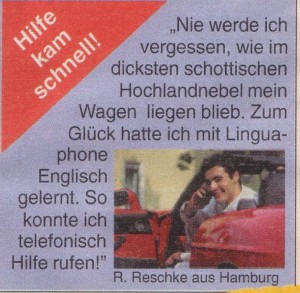 Werbung Linguaphone